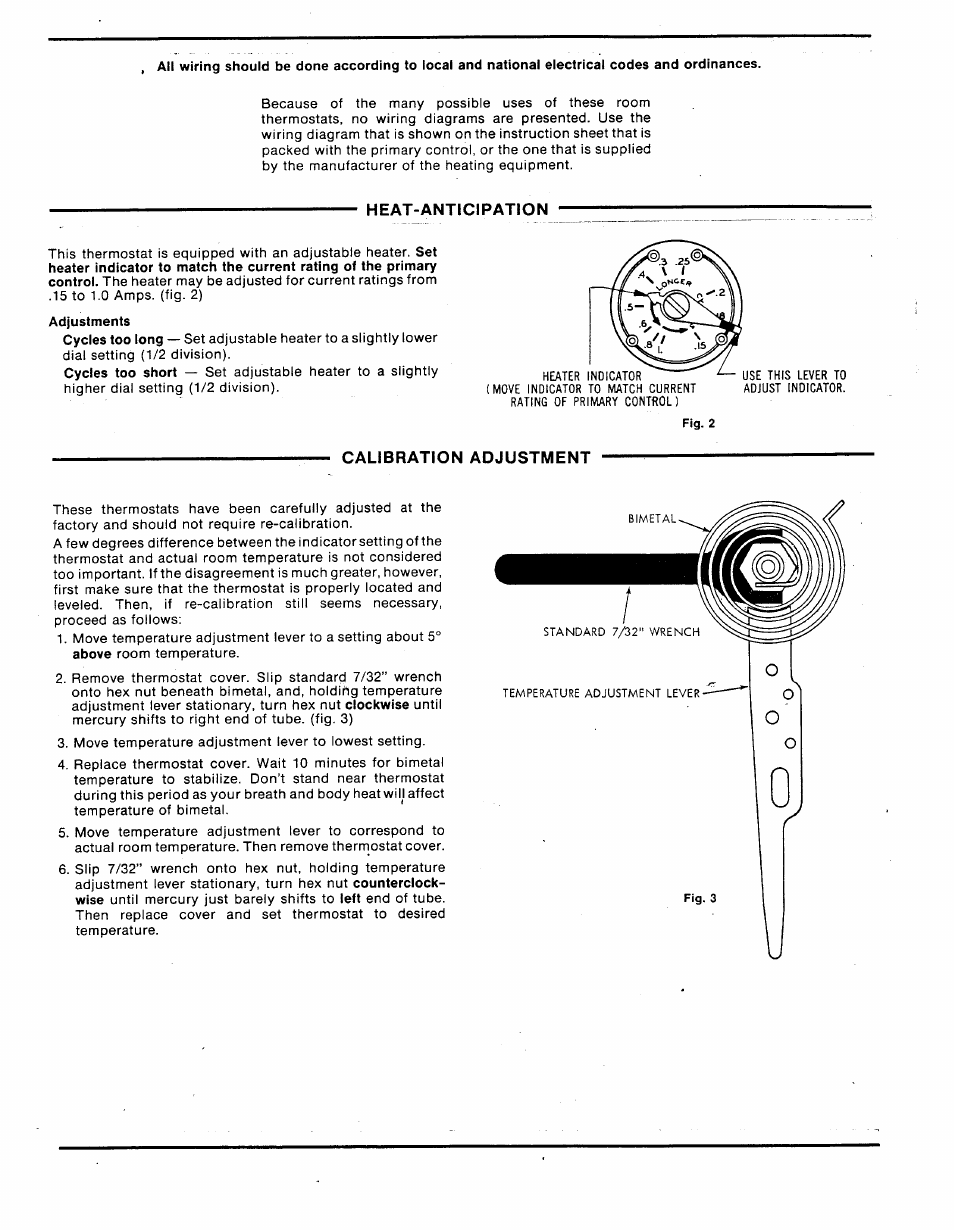 Heat Anticipation Calibration Adjustment White Rodgers 1e30 373 Hvac Thermostat Wiring Diagram Manufacturers User Manual Page 2