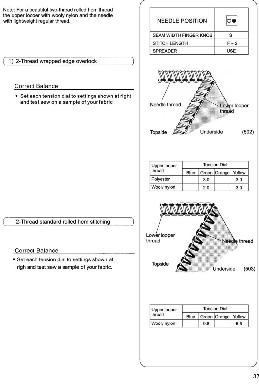 SINGER 14SH754/14CG754 User Manual | Page 38 / 53 | Original