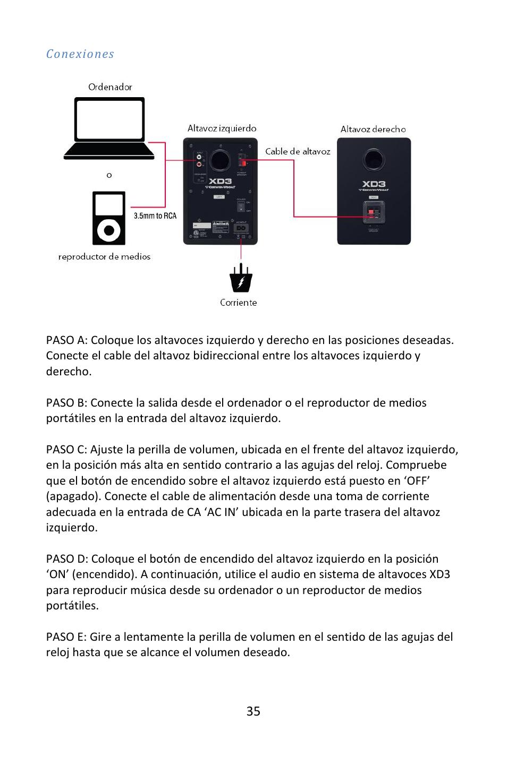Cerwin-Vega POWERED DESKTOP XD3 User Manual   Page 36 / 53