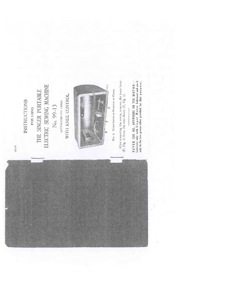 SINGER 99-13 User Manual   25 pages