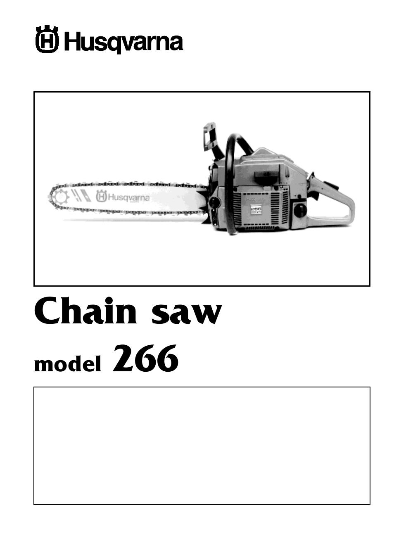 husqvarna 266 user manual 8 pages rh manualsdir com Husqvarna 450 Chainsaw Service Manual Husqvarna Chainsaw Workshop Manual