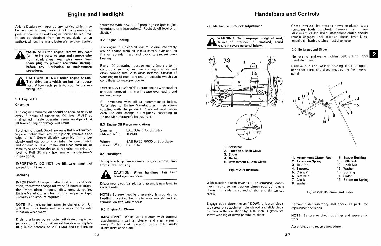ariens st1136 manual