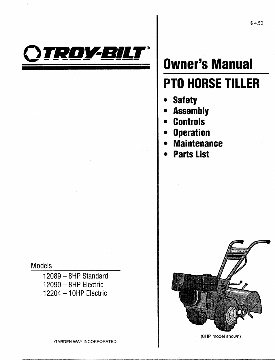 Troy bilt 12204 10hp user manual 64 pages publicscrutiny Gallery