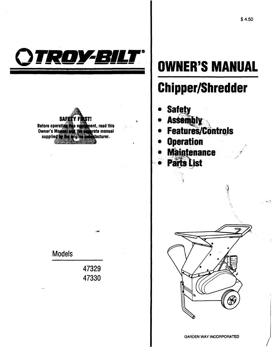 troy bilt 47330 user manual 27 pages also for 47329 rh manualsdir com Sony DAV HDX576WF Manual Sony A6000 User Manual