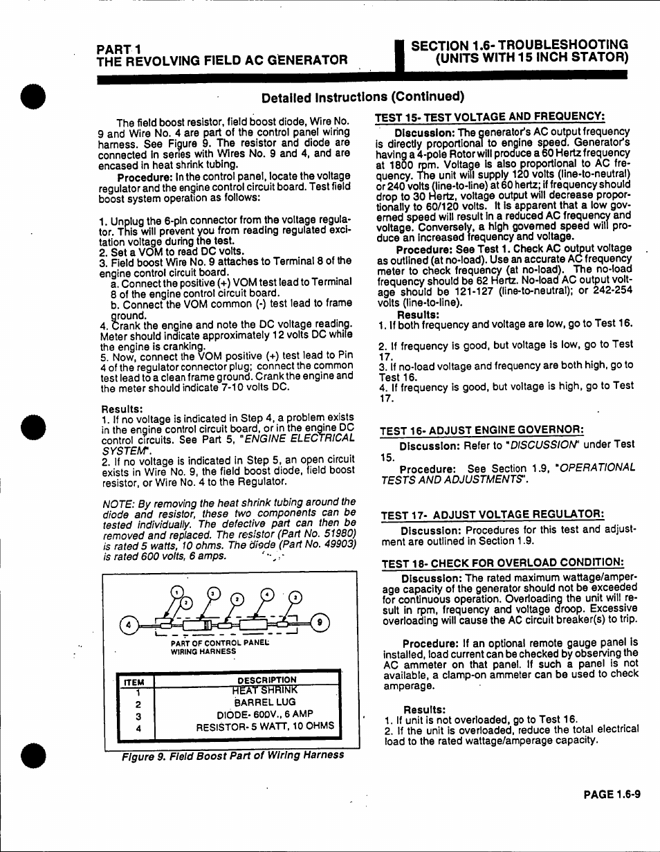 Parti The Revolving Field Ac Generator Generac Power Systems 53187 Wiring Harness User Manual Page 37 152