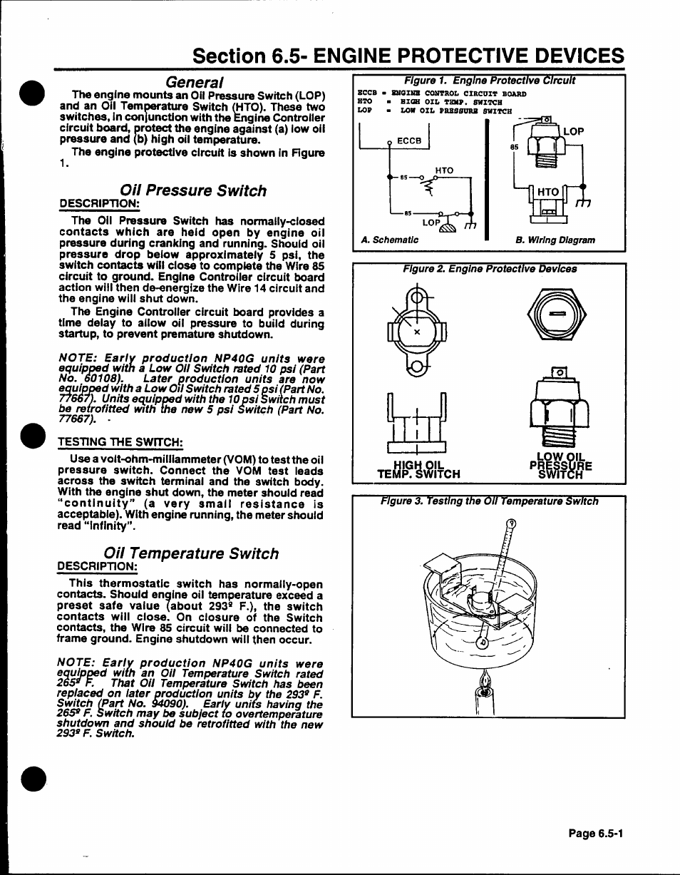 Np 40g Generator Wiring Diagram And Schematics Oil Pressure Switch General Temperature Generac Power Systems User Manual Page 96
