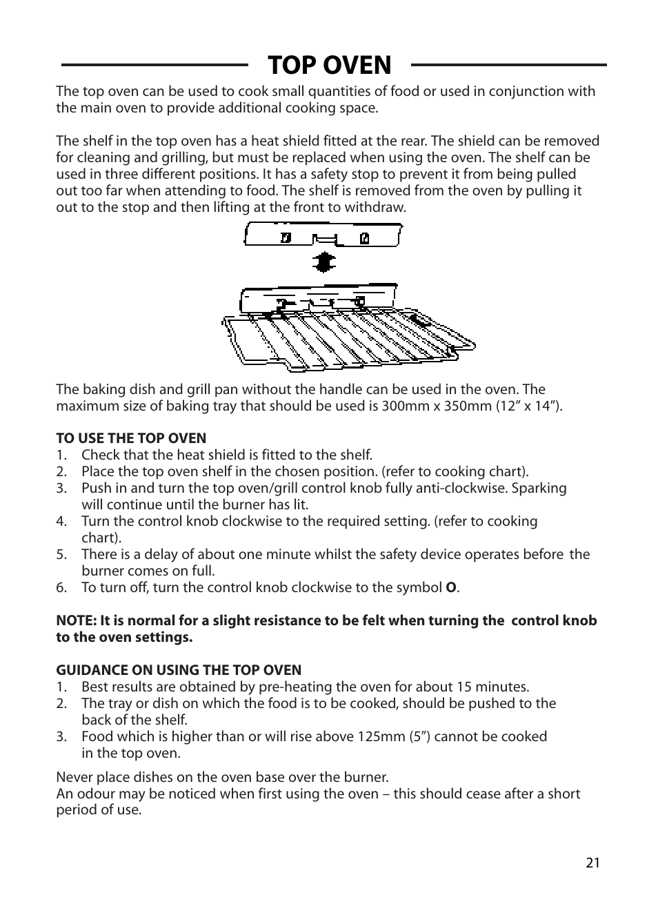 Top Oven Cannon Chichester 10575g User Manual Page 21 36