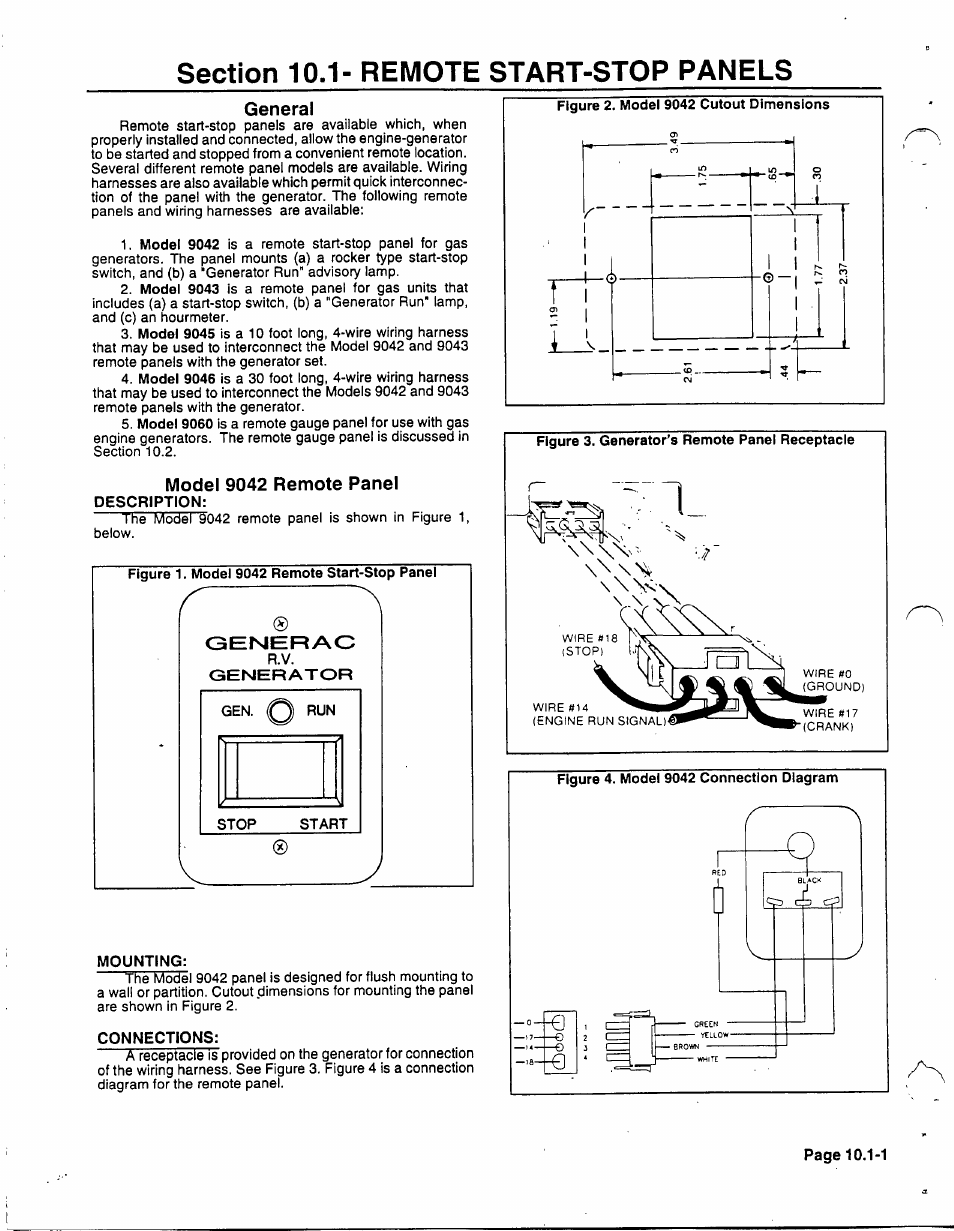 Section 10.1- remote start-stop panels, General, Model 9042 remote on mi-t-m wiring diagram, scotts wiring diagram, simplicity wiring diagram, taylor wiring diagram, dremel wiring diagram, automatic transfer switch wiring diagram, sears wiring diagram, bush hog wiring diagram, atlas wiring diagram, detroit wiring diagram, northstar wiring diagram, little giant wiring diagram, devilbiss wiring diagram, columbia wiring diagram, general wiring diagram, ingersoll rand wiring diagram, graco wiring diagram, karcher wiring diagram, bolens wiring diagram, hobart wiring diagram,