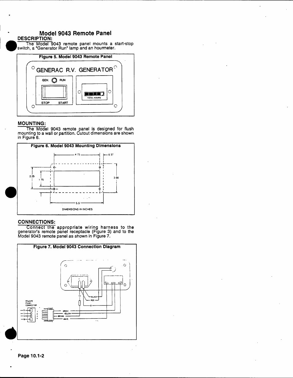 Description Mounting Connections Generac 86640 User Manual Wiring Harness Page 102 120