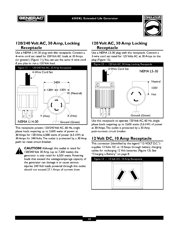Generac 6500XL User Manual | Page 10 / 20