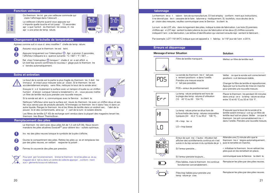 Th Er M Os Ca N Braun Thermoscan Irt 6510 User Manual Page 12