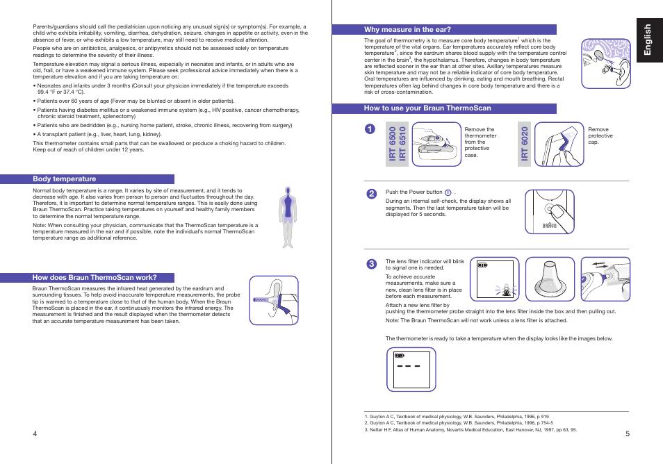 English Braun Thermoscan Irt 6510 User Manual Page 4 20