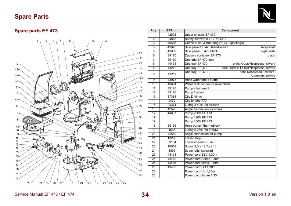 spare parts ef 473  34 spare parts