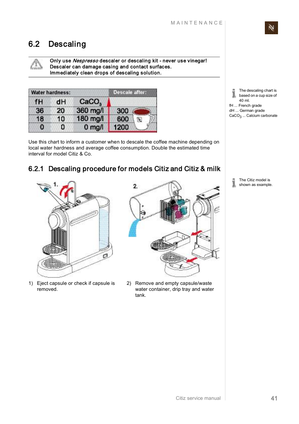 2 descaling nespresso citiz co ef 488 user manual page 41 rh manualsdir com nespresso inissia user manual nespresso user manual pixie
