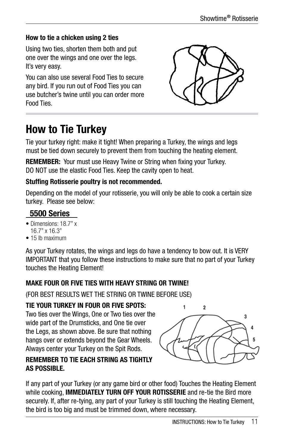 How to tie turkey 5500 series ronco 5500 series stainless how to tie turkey 5500 series ronco 5500 series stainless rotisserie oven user manual page 11 32 ccuart Image collections