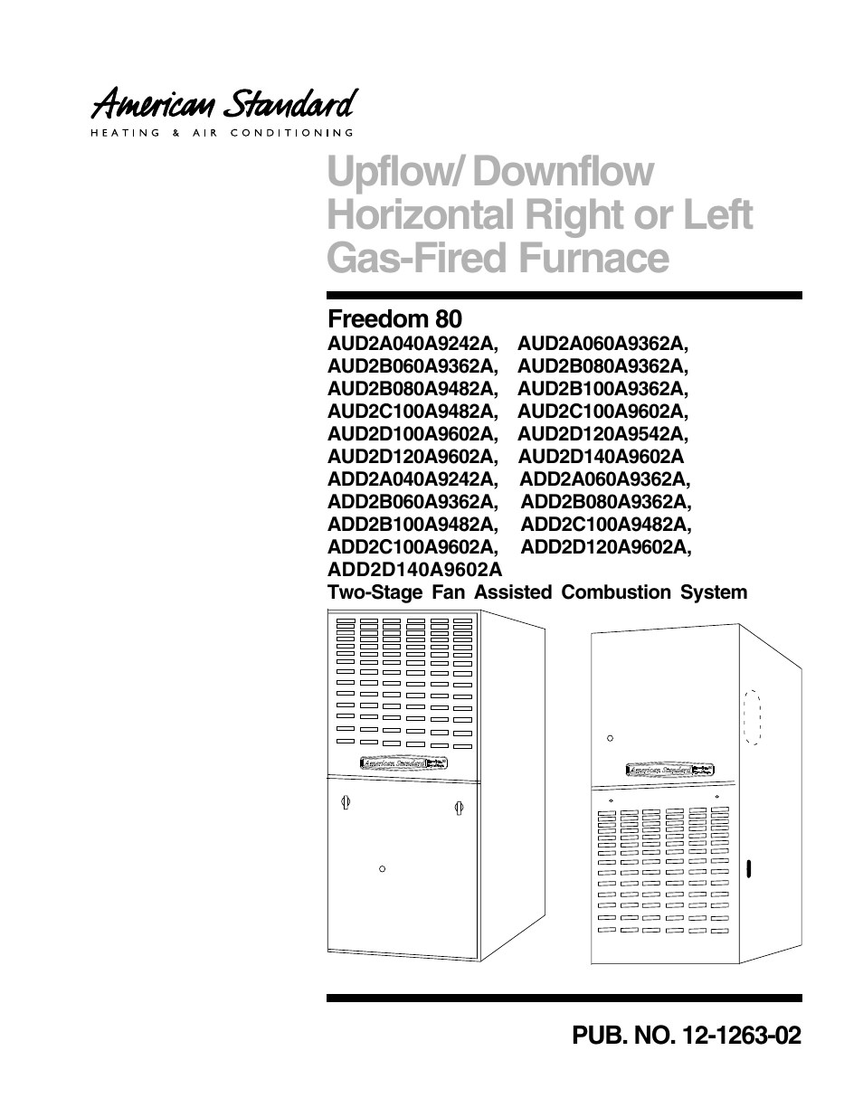 American Standard Freedom 80 User Manual 24 Pages Air Furnace Schematic