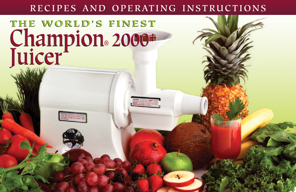 champion juicer g5 ng 853 s user manual 53 pages rh manualsdir com Manual Citrus Juicer Old Manual Juicers