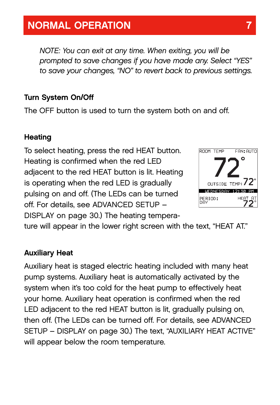 Normal operation 7 bryant evolution thermostat user manual normal operation 7 bryant evolution thermostat user manual page 11 44 sciox Images
