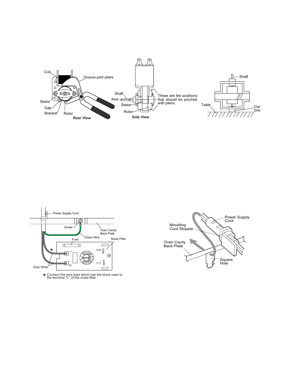 11 Power Supply Cord Replacement Removal Install Sharp Carousel In Order To Remove The Latch Assembly And Or Door Ajar Switch R 305ks User Manual Page 29 40