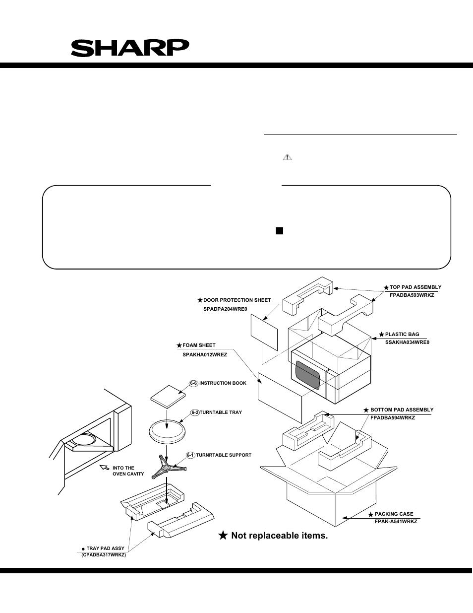 parts list r 305ks microwave oven sharp carousel r 305ks user rh manualsdir com Sharp ER-A170 sharp carousel microwave r-305ks manual