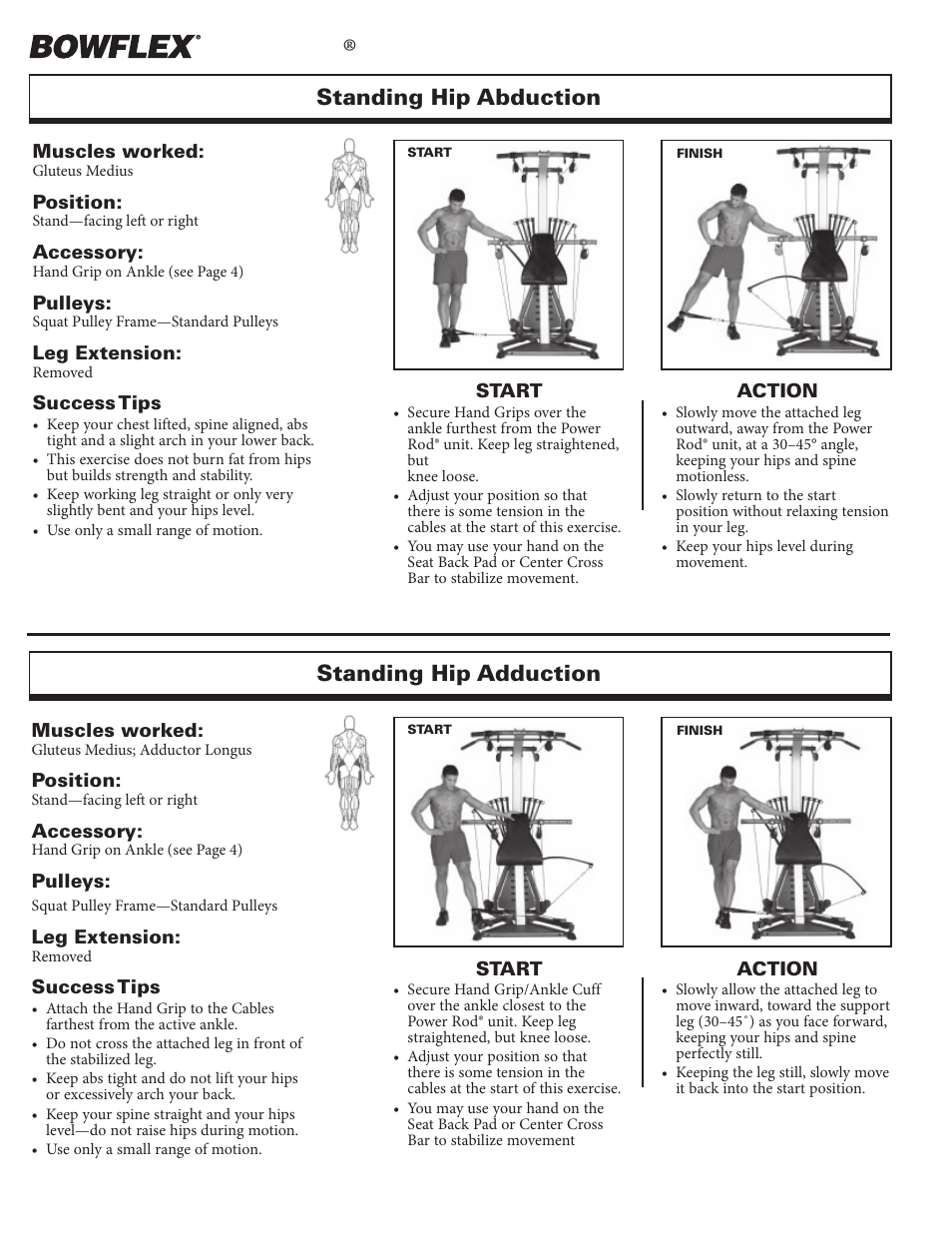 Leg exercises, Xtreme, Standing hip abduction standing hip adduction