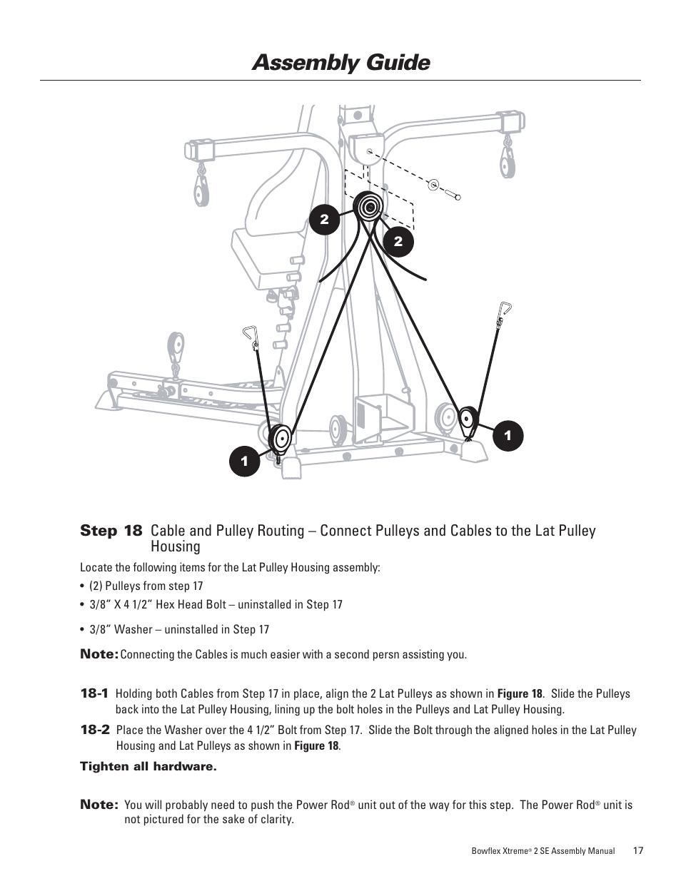 assembly guide bowflex xtreme 2 se user manual page 21 28 rh manualsdir com Bowflex Adjustable Dumbbells Bowflex Treadmill Series 7