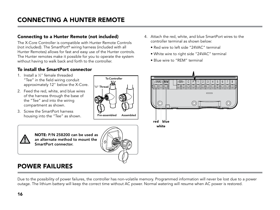 hunter x core instruction manual