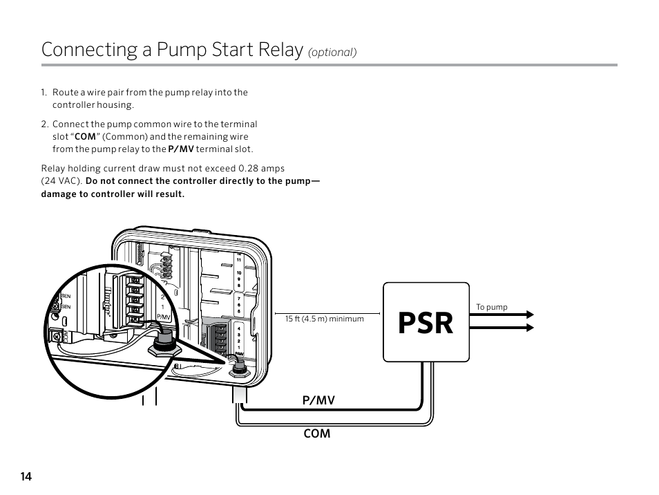 How To Connect A Pump Start Relay To Hunter Pro Manual Guide