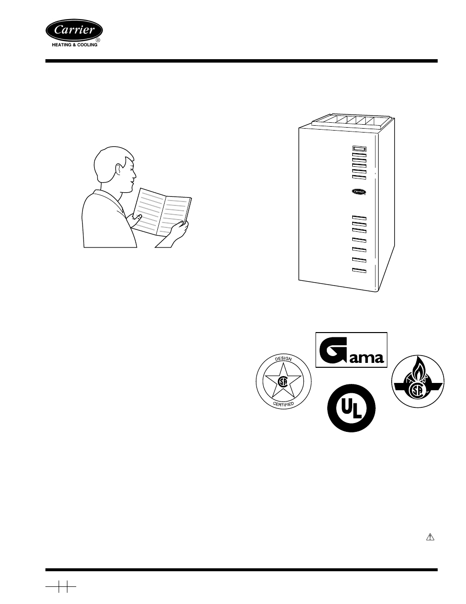 Carrier 58msa User Manual
