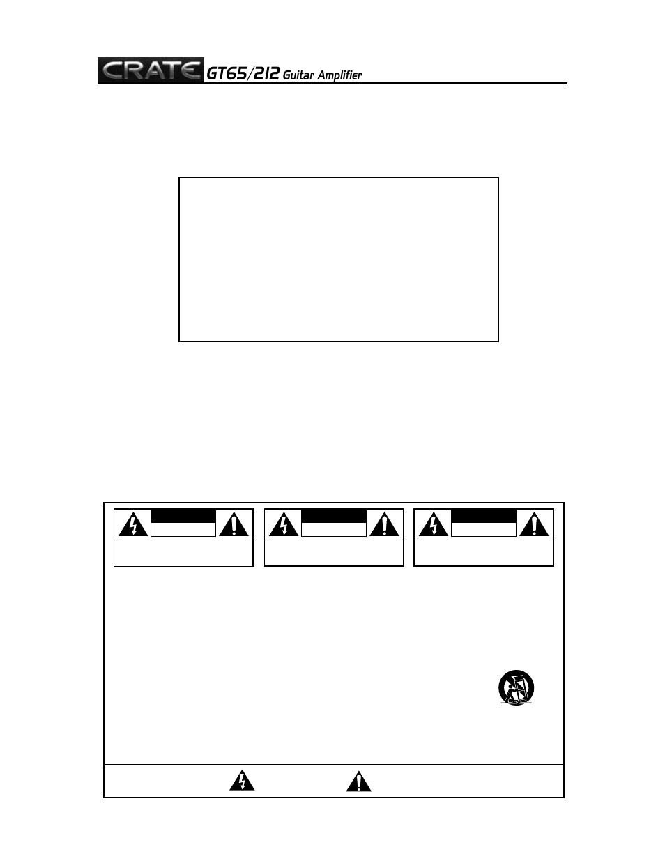 Crate amplifiers gt65212 user manual page 2 8 ccuart Choice Image