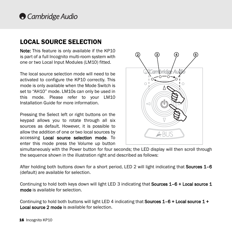 Local Source Selection Cambridge Audio Kp10 User Manual Page 16 20 Switch That Would Activate Whenever It Got An Input