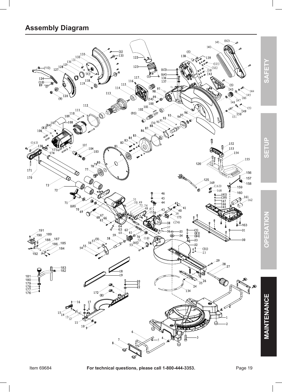Assembly    diagram     Safety opera tion maintenance setup      Chicago       Electric    Power Tools 12  DOUBLE