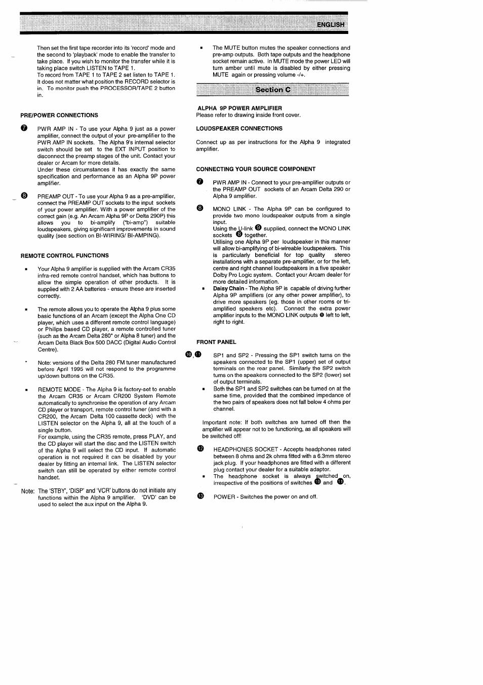 Arcam Alpha 9 Circuit Diagram Books Of Wiring Bi Speakers Stereo Jeffdoedesign Com