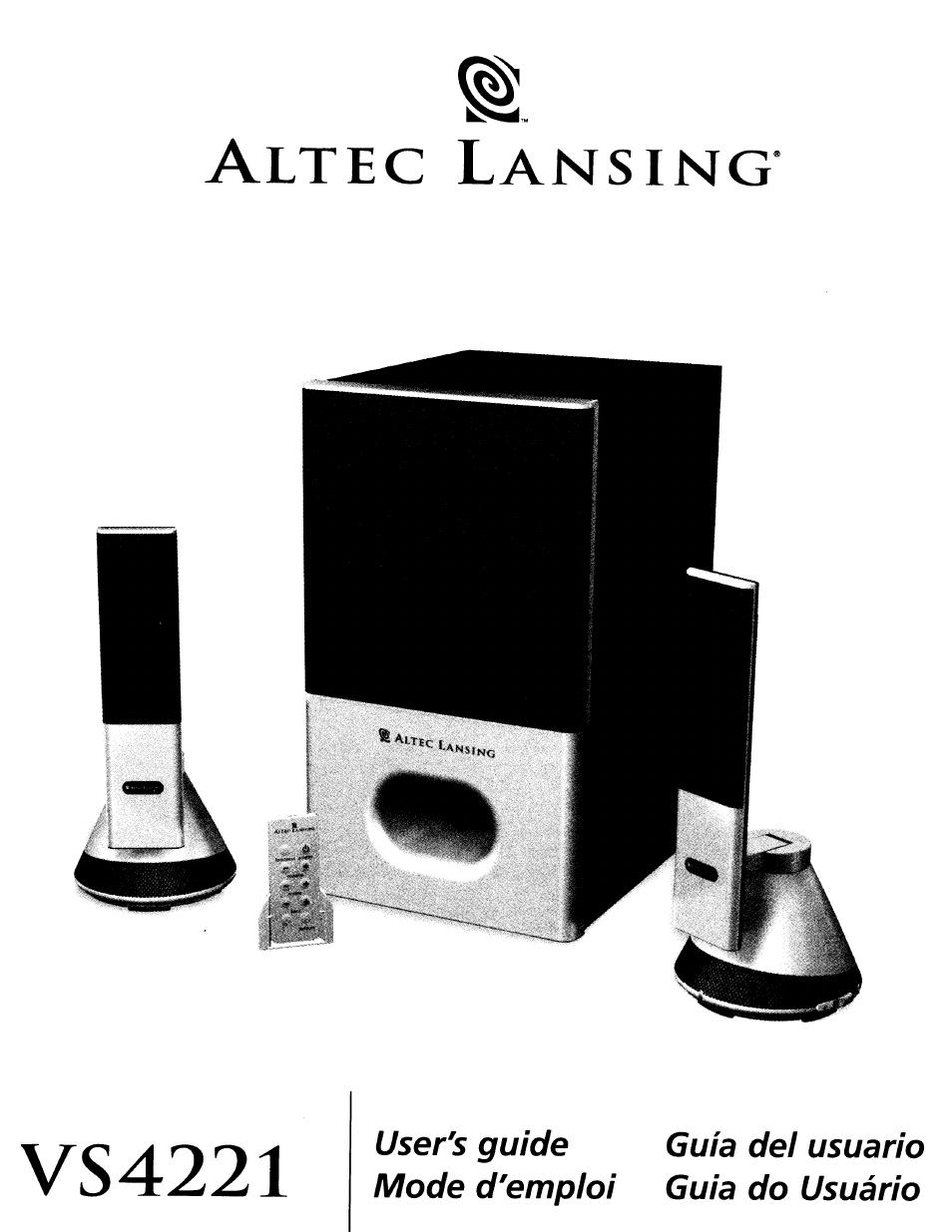 altec lansing vs4221 user manual 9 pages rh manualsdir com Altec Lansing VS4221 Connection Diagrams Altec Lansing VS4221 Connection Diagrams