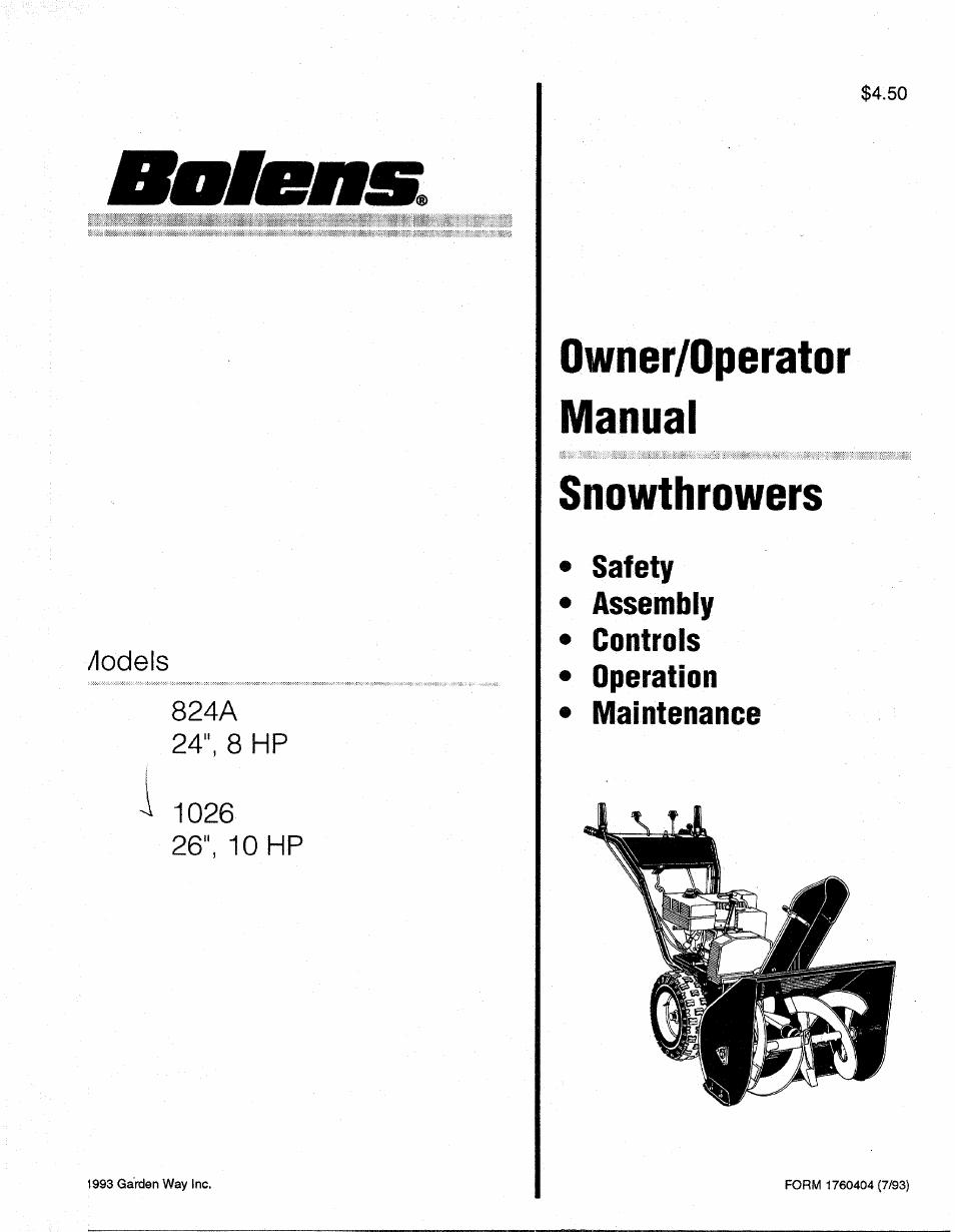 bolens user manual browse manual guides u2022 rh trufflefries co Owner's Manual bolens bl160 user manual