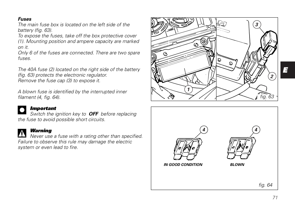 ducati monster 620 user manual | page 71 / 84 | also for: monster 800,  monster 1000