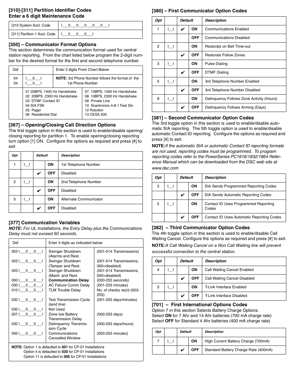 DSC POWERSERIES PC1616 User Manual | Page 12 / 16 | Also for