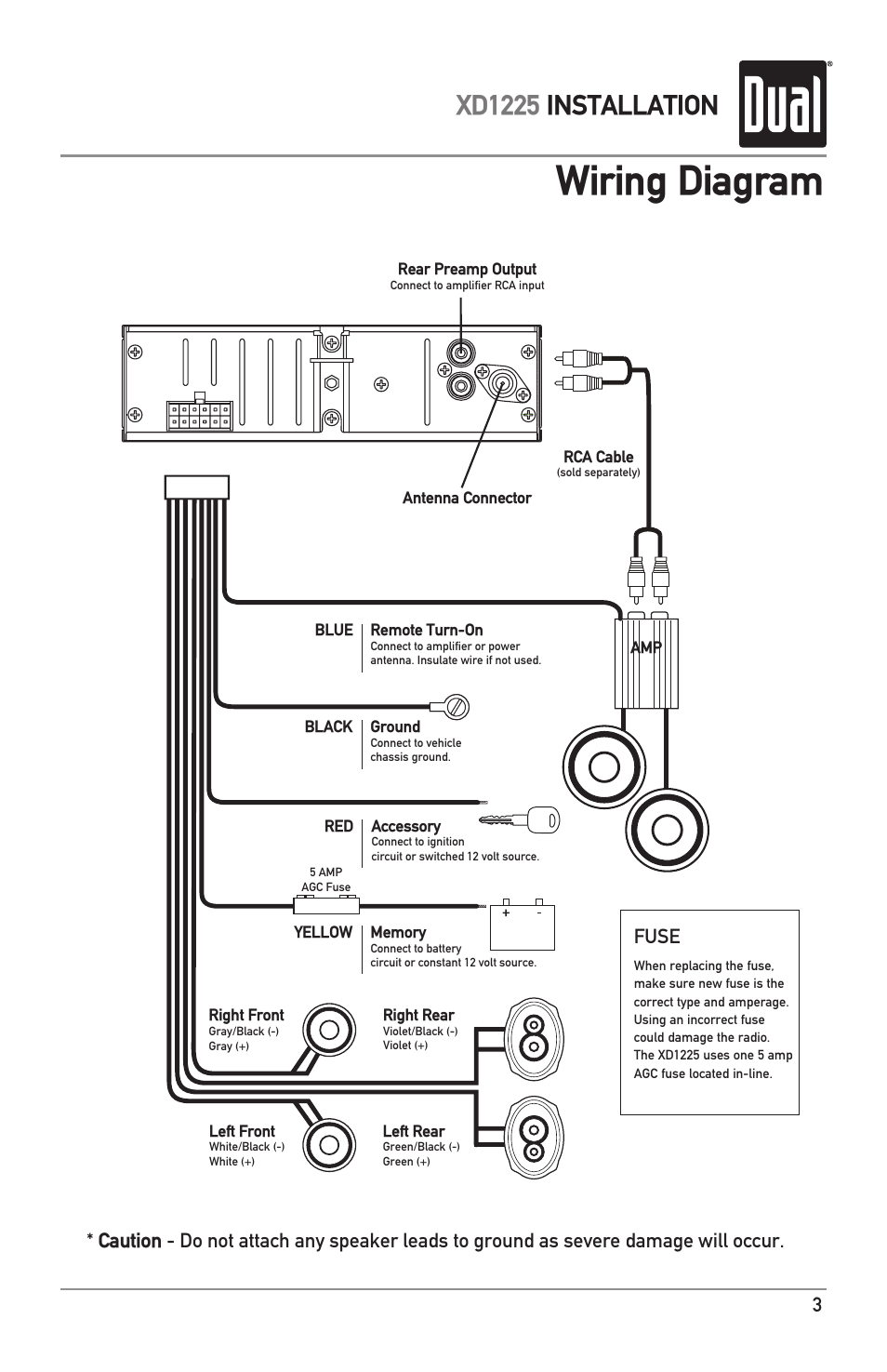 Dual Xd1225 Wiring Diagram from www.manualsdir.com