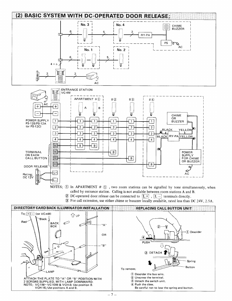 Aiphone Vc K Wiring Diagram Free Download 58mt User Manual Page 7 8 Original Mode Also For Intercom