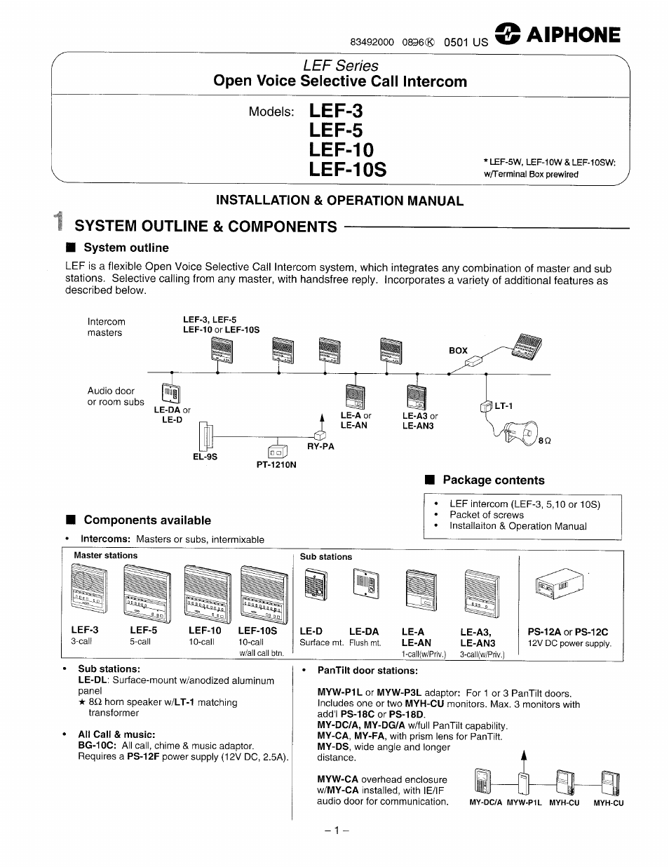 aiphone lef 3 page1 aiphone lef 3 user manual 12 pages also for lef 10, lef 5 aiphone lef 10s wiring diagram at reclaimingppi.co