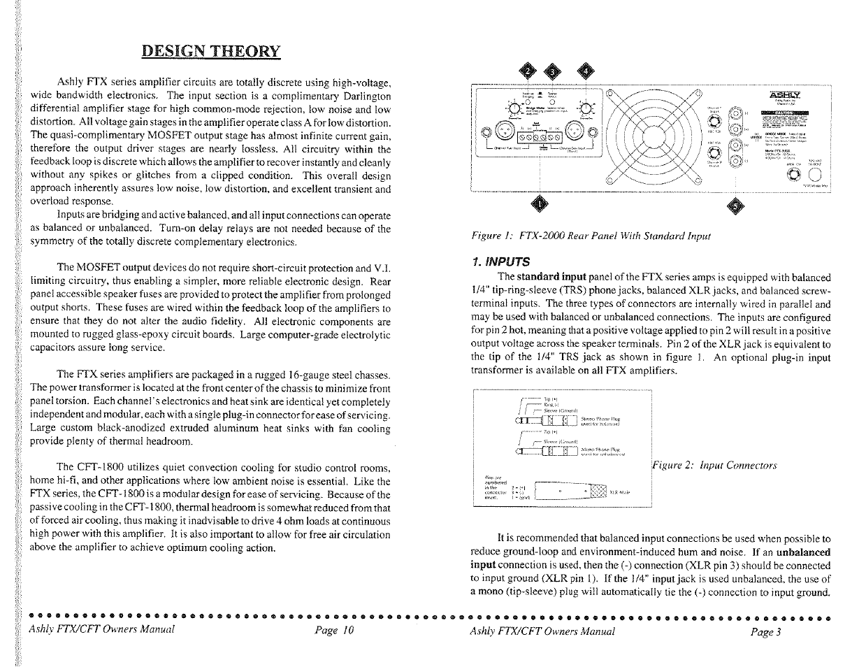 Design Theory Ashly Mos Fet Power Amplifiers Cft Series User Overload Current Trip Manual Page 3 7