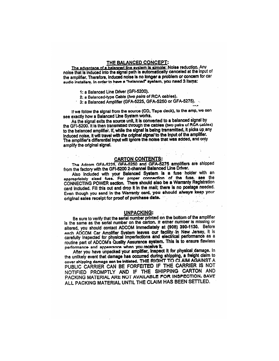 adcom 2 channel gfa 5275 user manual page 4 16 original mode rh manualsdir com Adcom Amplifier Old School Car Adcom GFA 4702
