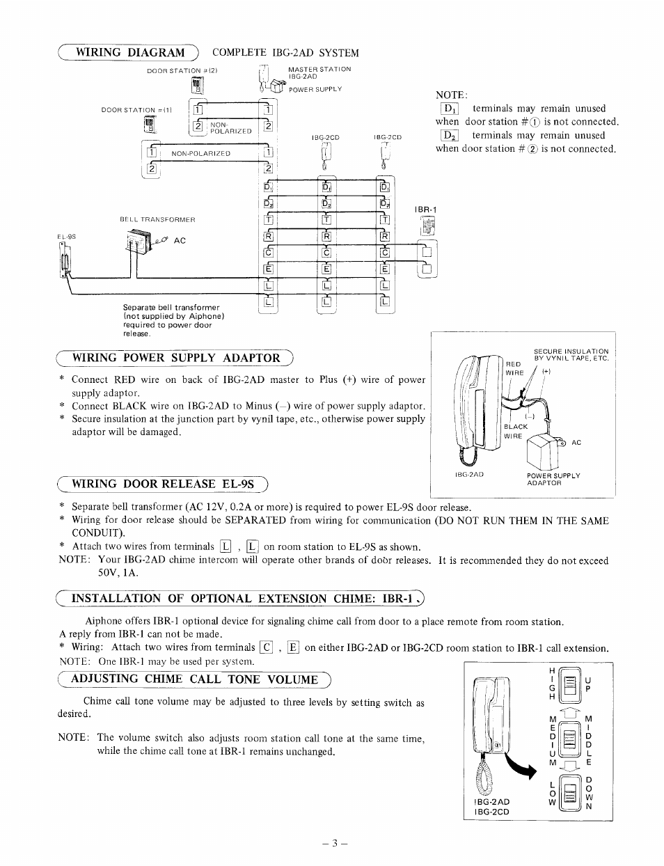 Bg Bell Transformer Wiring Diagram Door Chime With Power Supply Adaptor Release El 9s