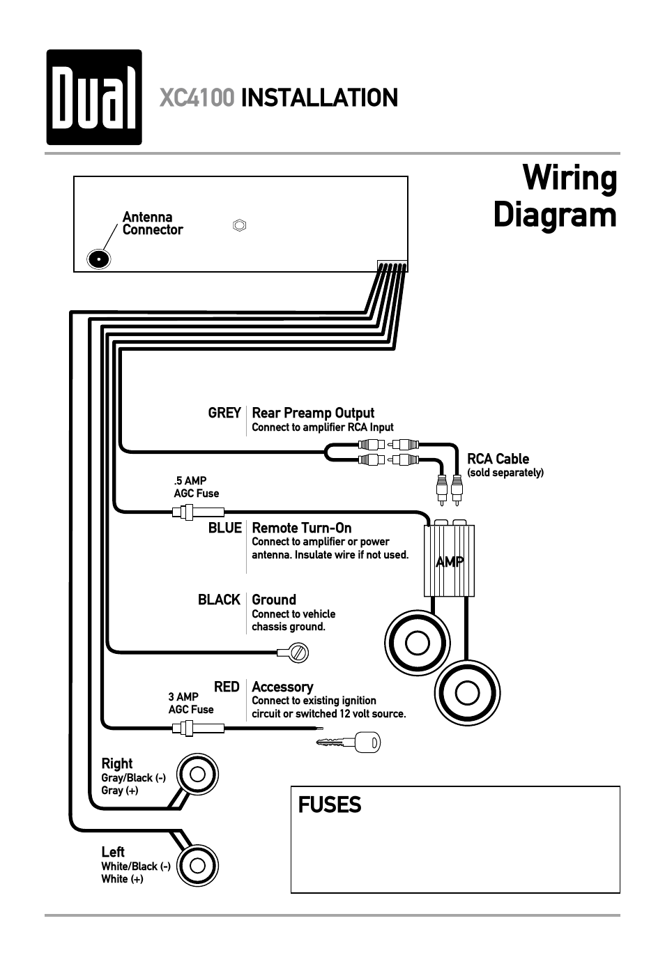 wiring diagram  xc4100 installation  fuses