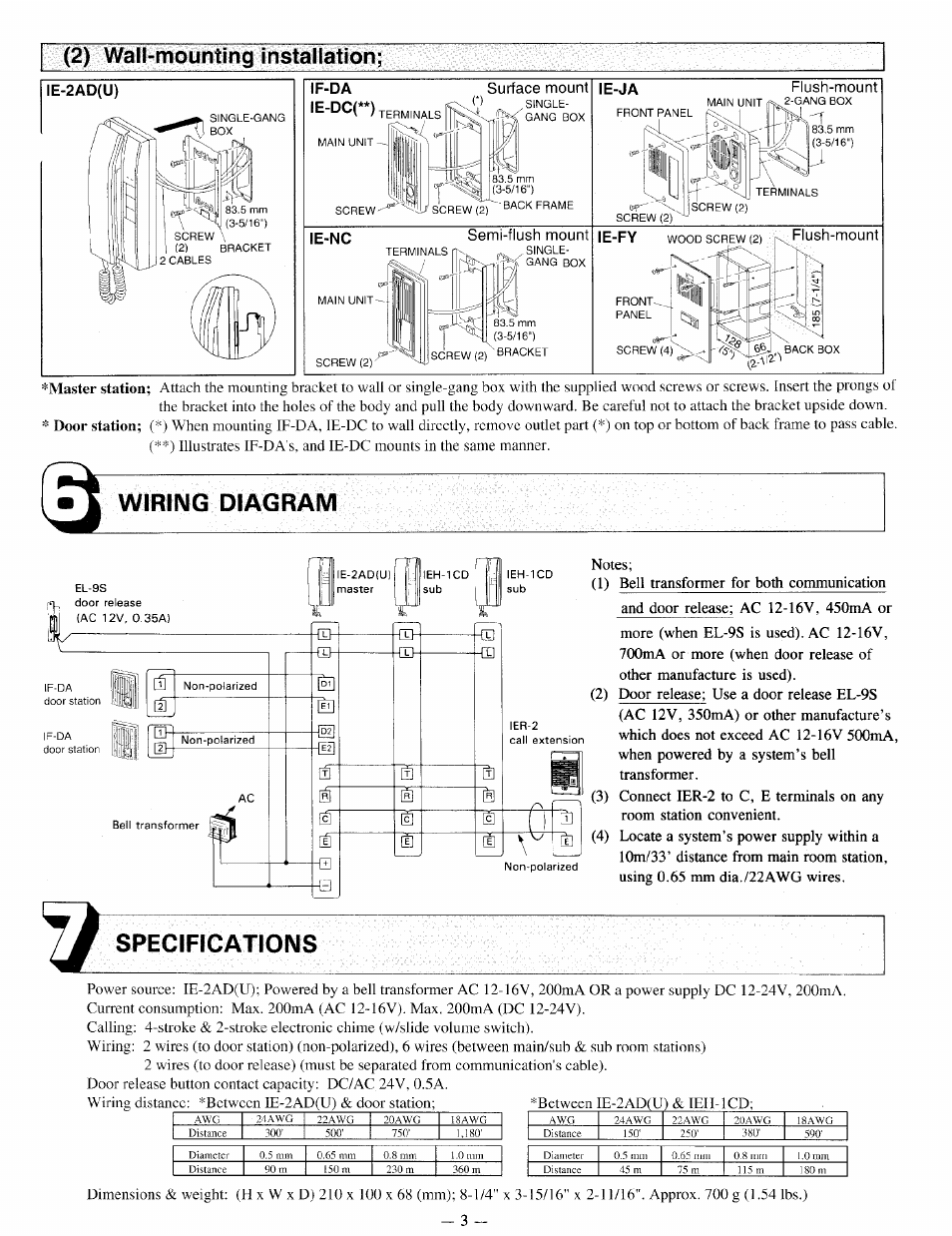 Wiring Diagram  Specifications  2  Wall