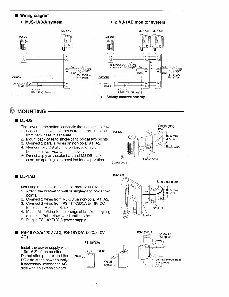 Wiring Diagram  U2022 Mjs A System  Mounting  Mj