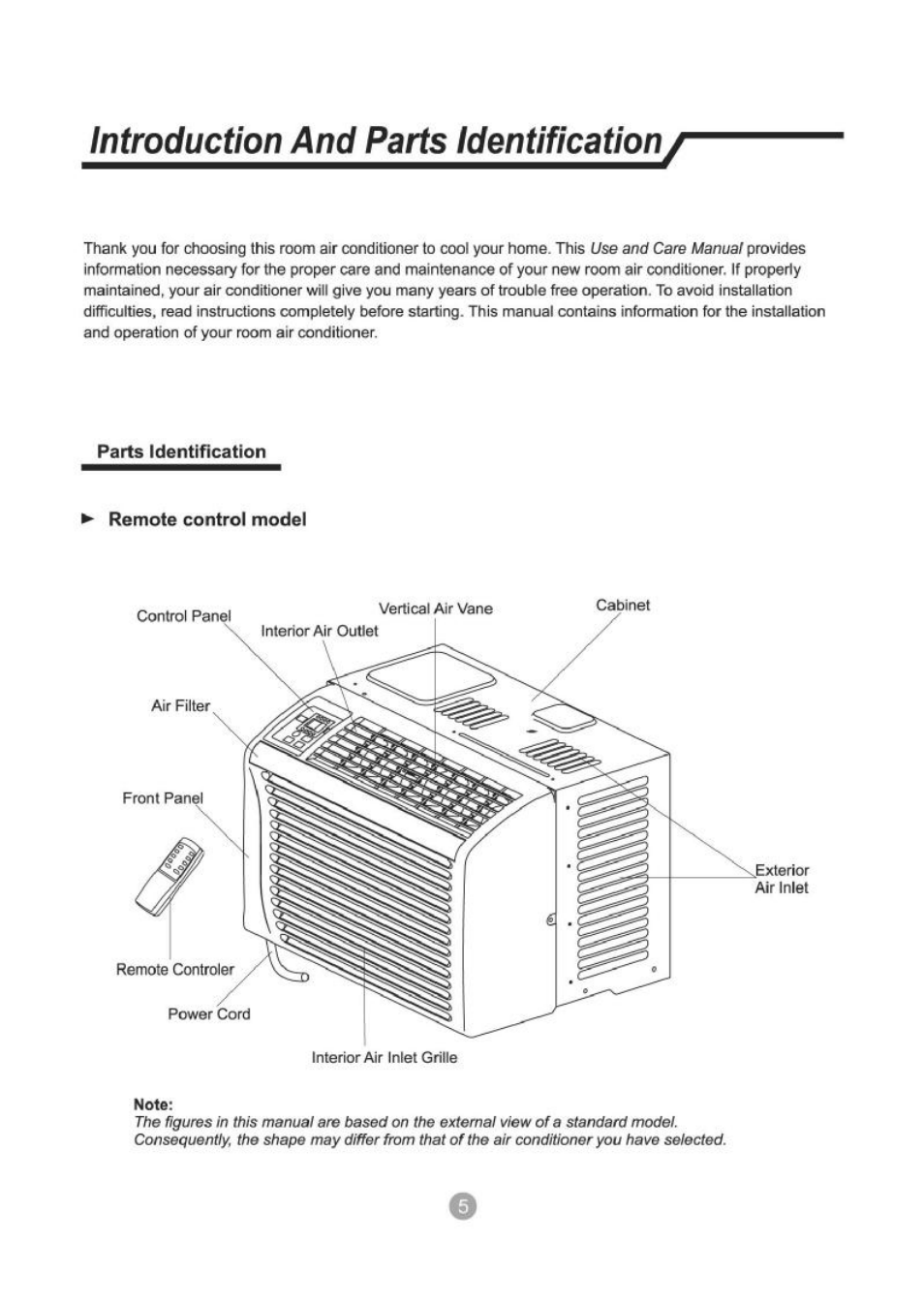 admiral portable air conditioner manual aap 09ck1fa page 2 3 Array -  introduction and parts identification parts identification remote rh  manualsdir com