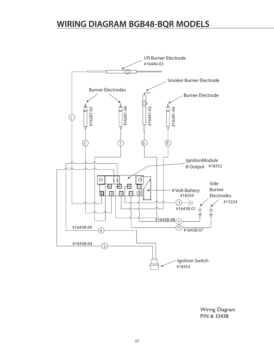 Wiring diagram bgb48-bqr models | DCS BGB36-BQAR User Manual | Page 38 / 42