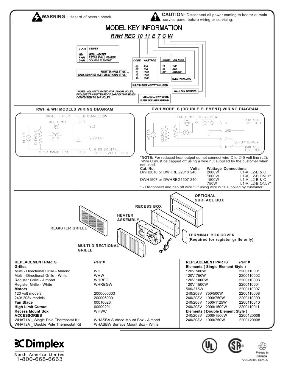 Dimplex 6100770000 User Manual
