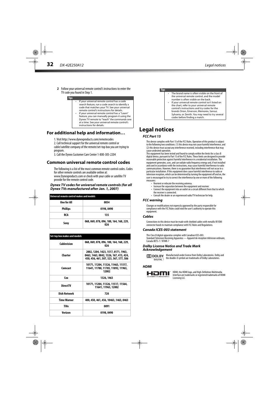 Dynex remote control manual